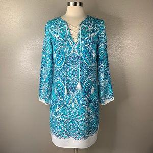 Lilly Pulitzer Sophiletta White Tassel Shift Dress